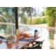 enjoy breakfast looking at the sea and the swimming pool