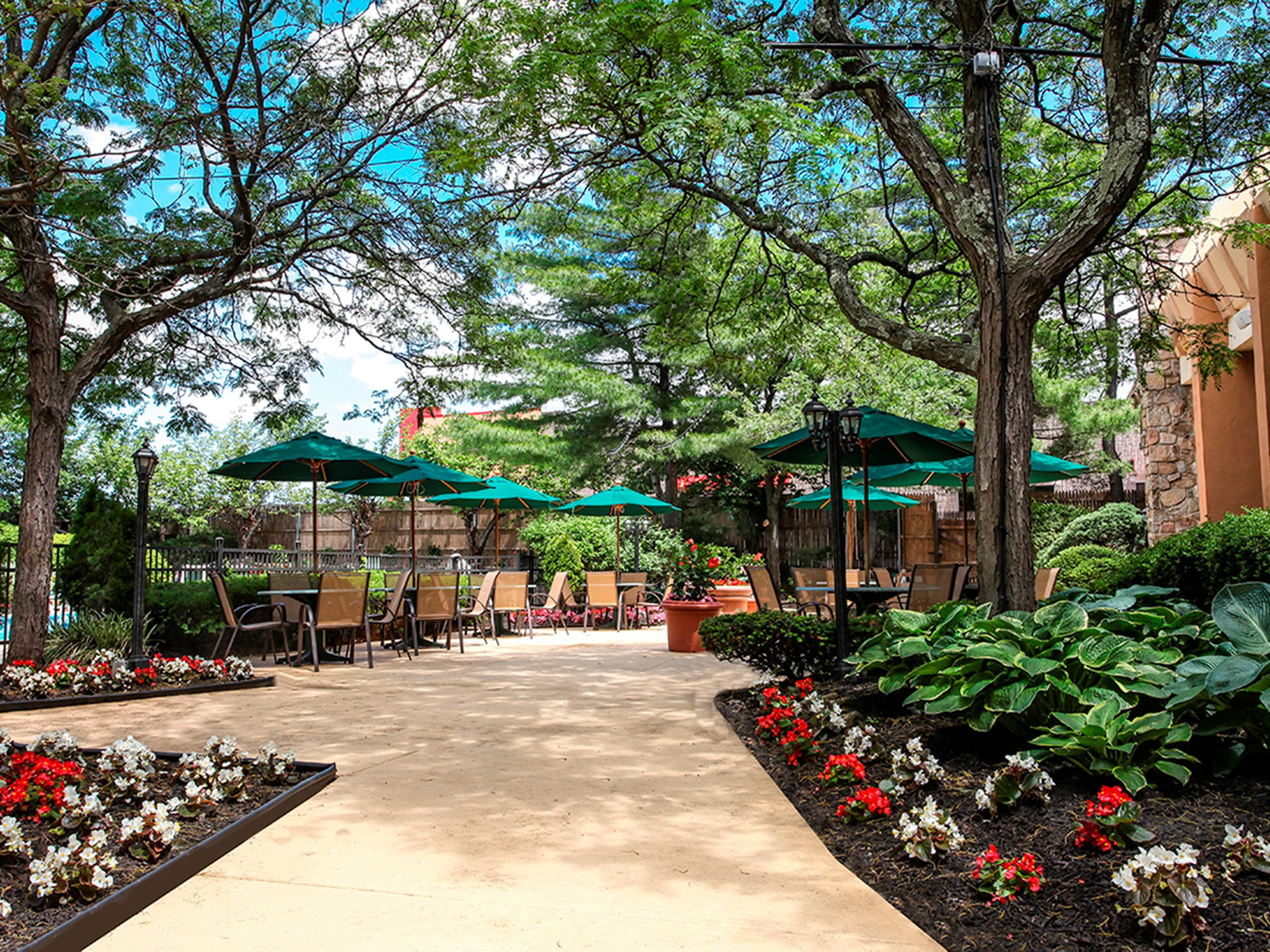 Enjoy a relaxing day in our garden courtyard