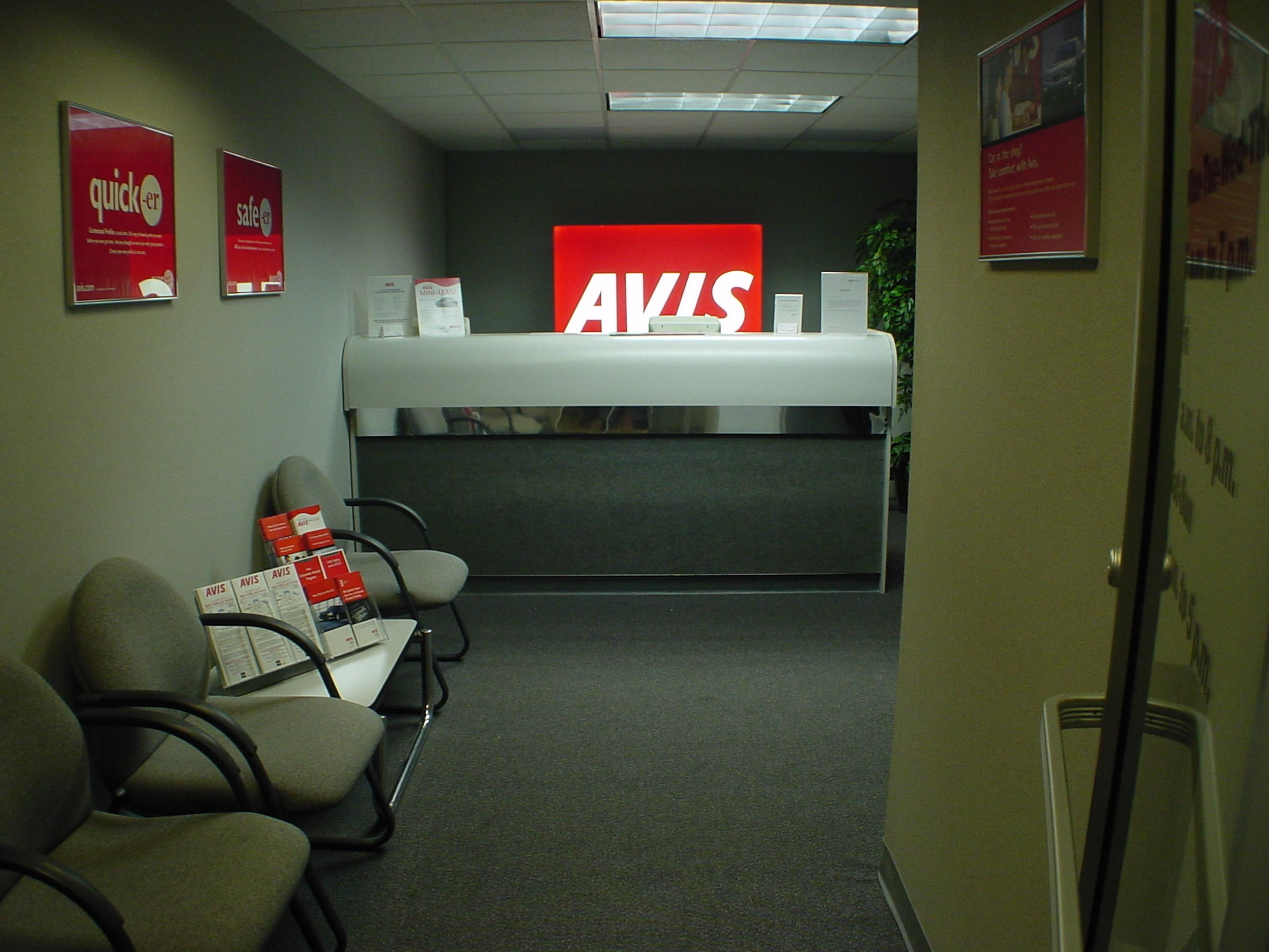 Avis car rental located on property