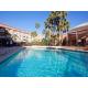 Sun tan or splash around at the refreshing heated pool