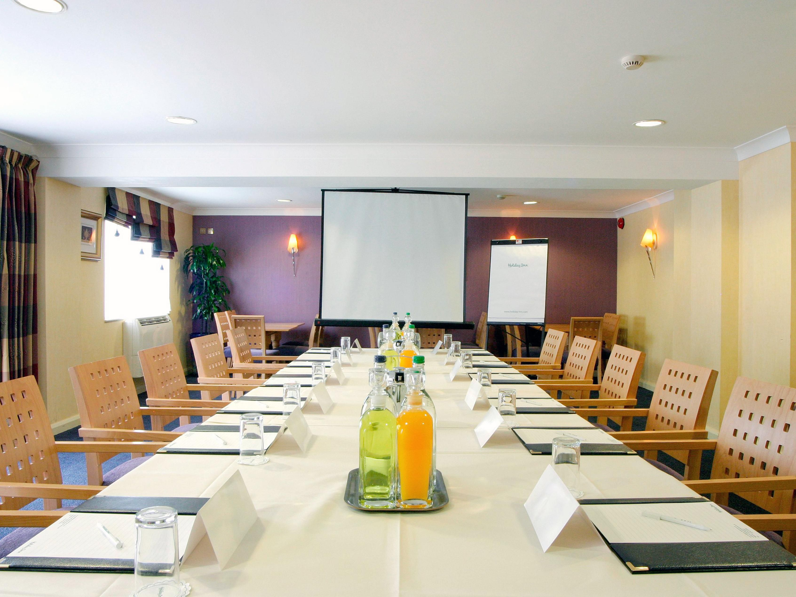 Clwyd Room set for boardroom meeting.