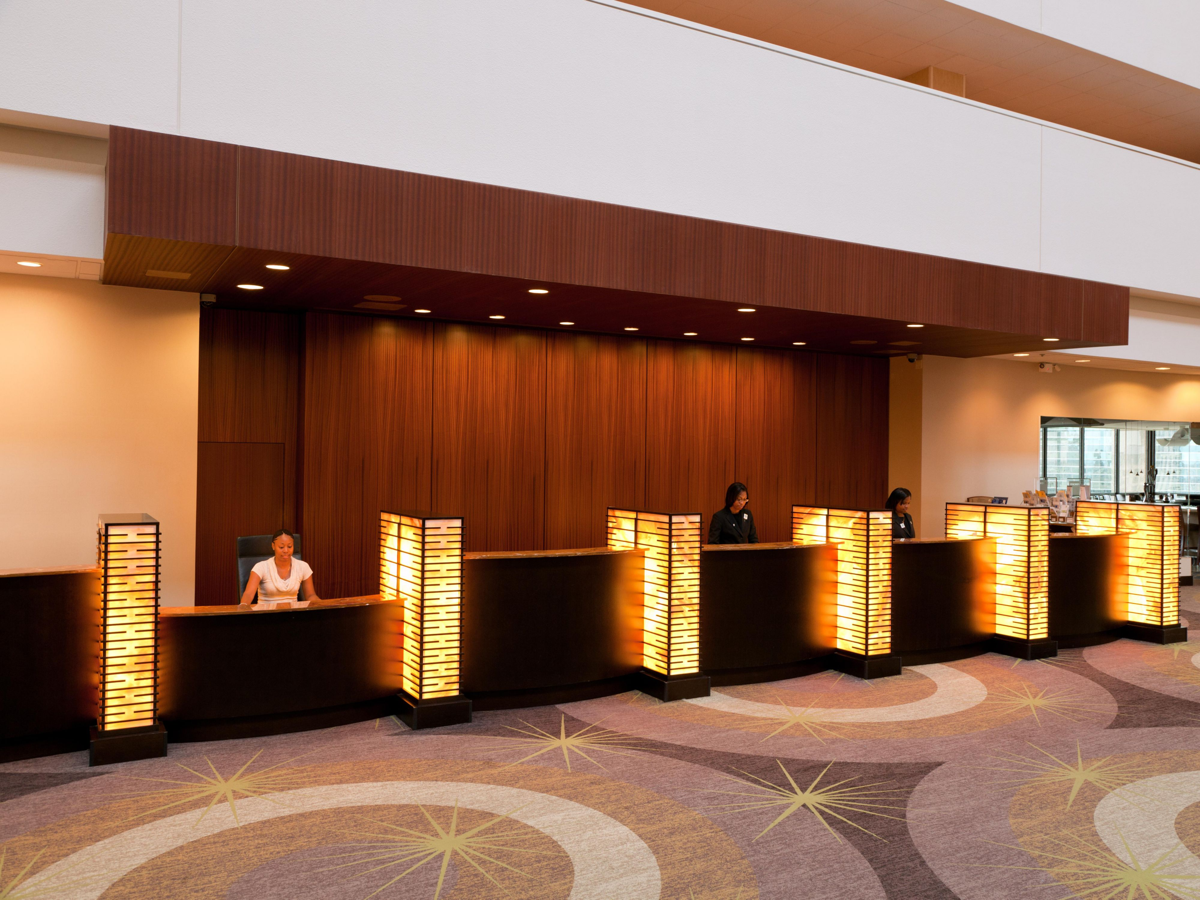 Front Desk Reception is Located on the 15th Floor