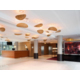 Welcoming, warm and luminous hotel lobby