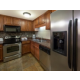 Preparing meals is easy in a fully equipped kitchen