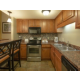 Spacious 1 bedroom kitchen with bar stools