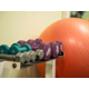 Exercise balls and hand weights