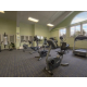 Stay on track and in shape in the fitness center while on vacation