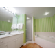 Enjoy separate tub & stand up shower in 2-bdrm villa & king studio