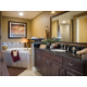 Upscale Signature bathroom with large soaking tub to relax in