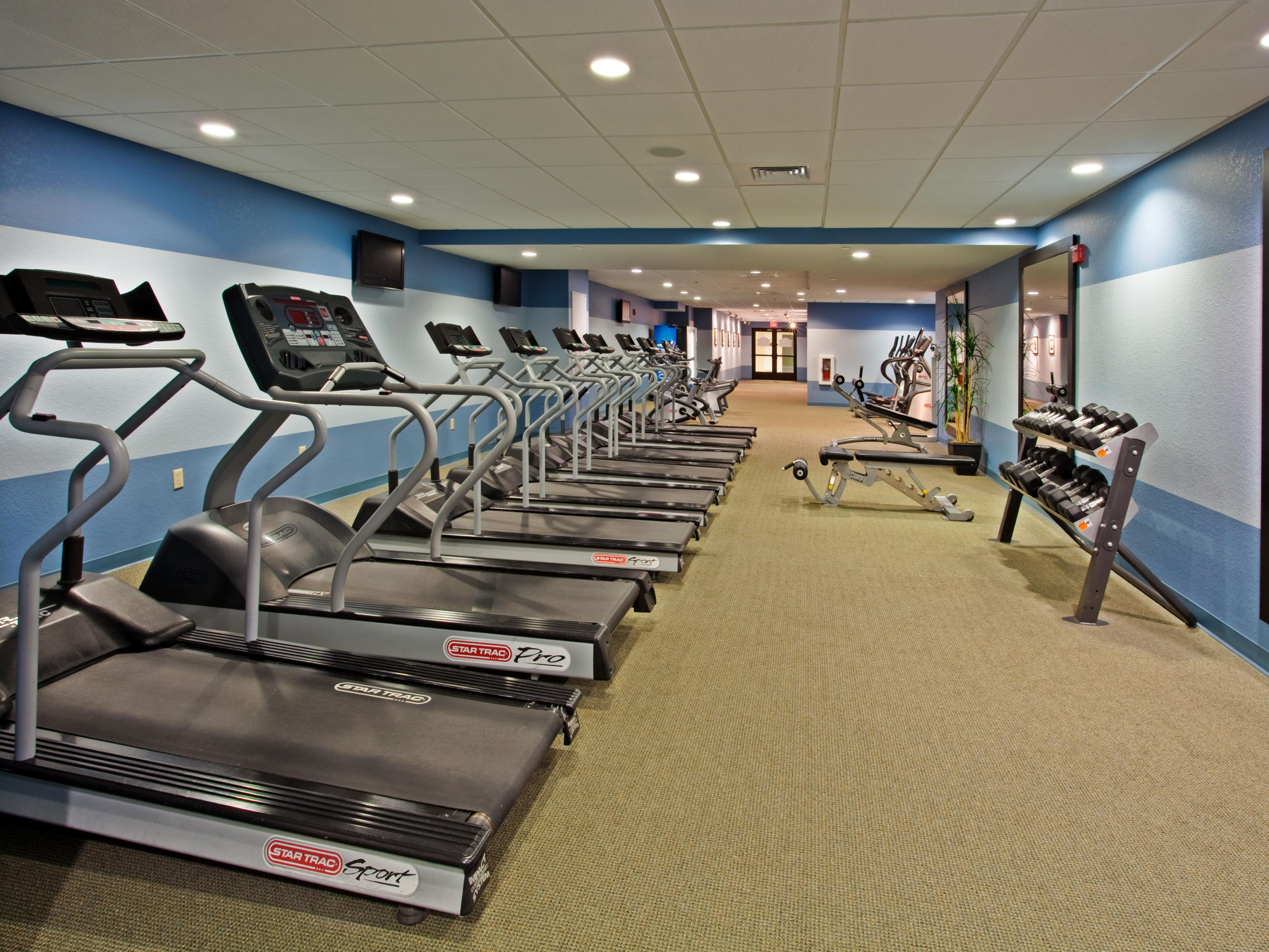 Stay on track and get in shape at the fitness center