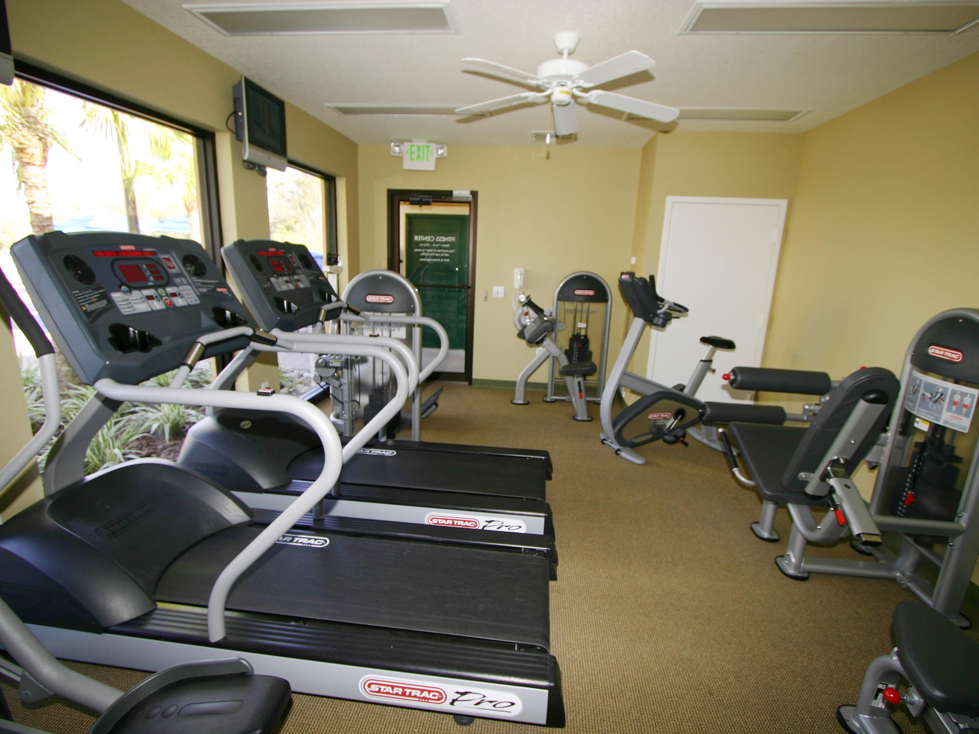Fitness center for guests to use