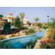 Florida landscape surrounding the lazy-style pool