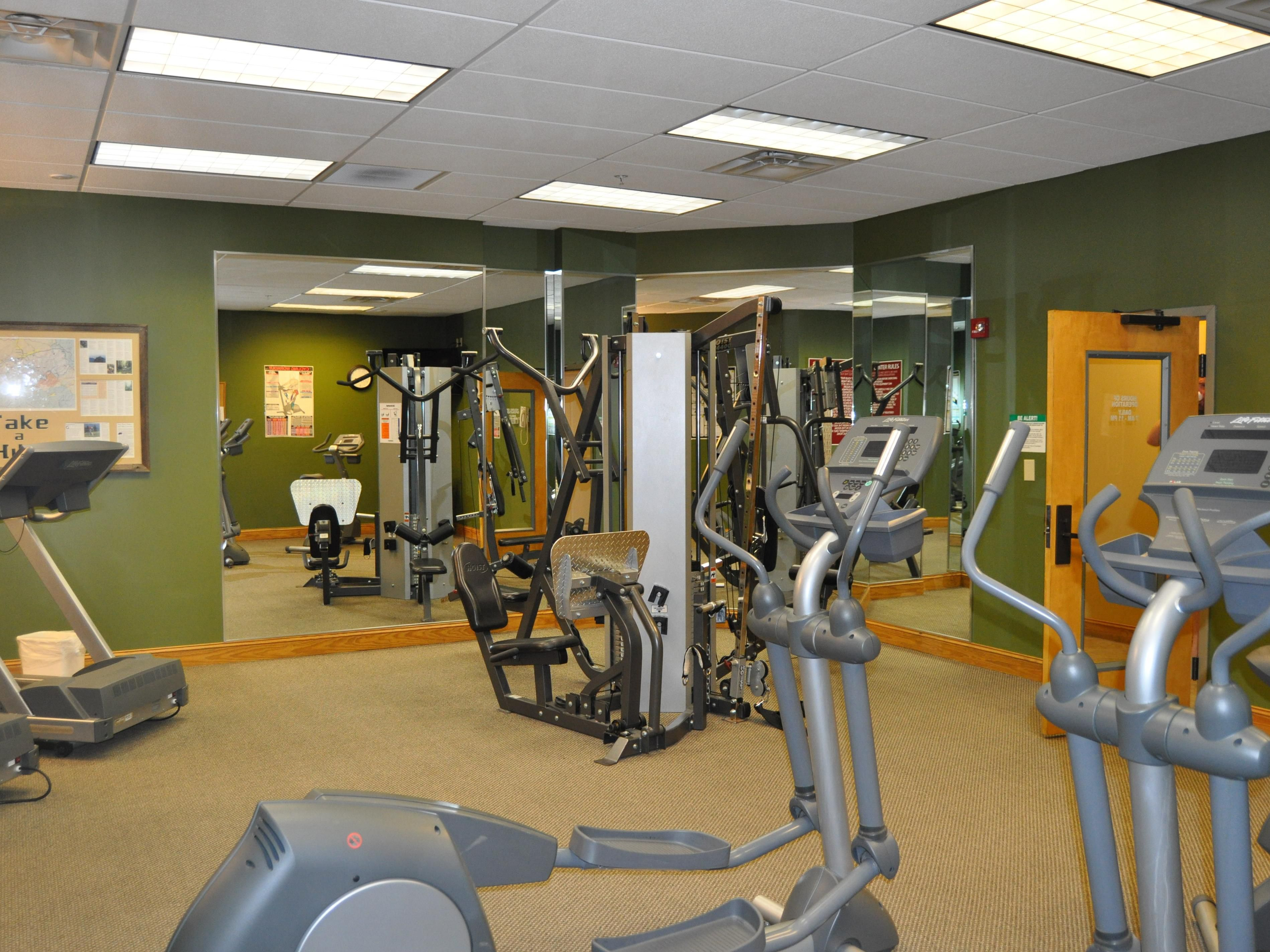 Enjoy working out at River Island's Mussels Fitness Center