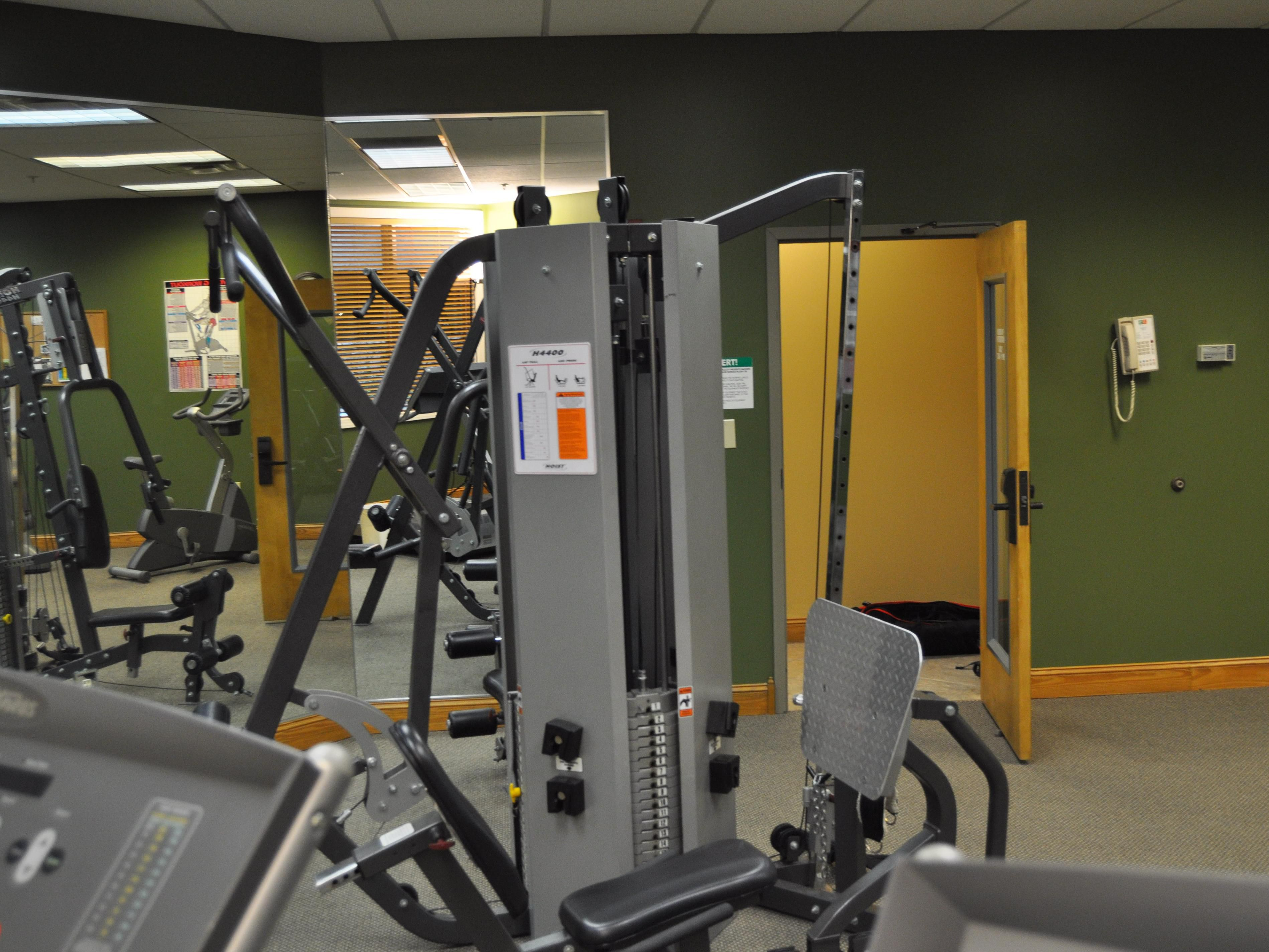 Stay on track at River Island Mussels Fitness Center