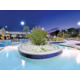 Enjoy floating down the lazy-river style pool
