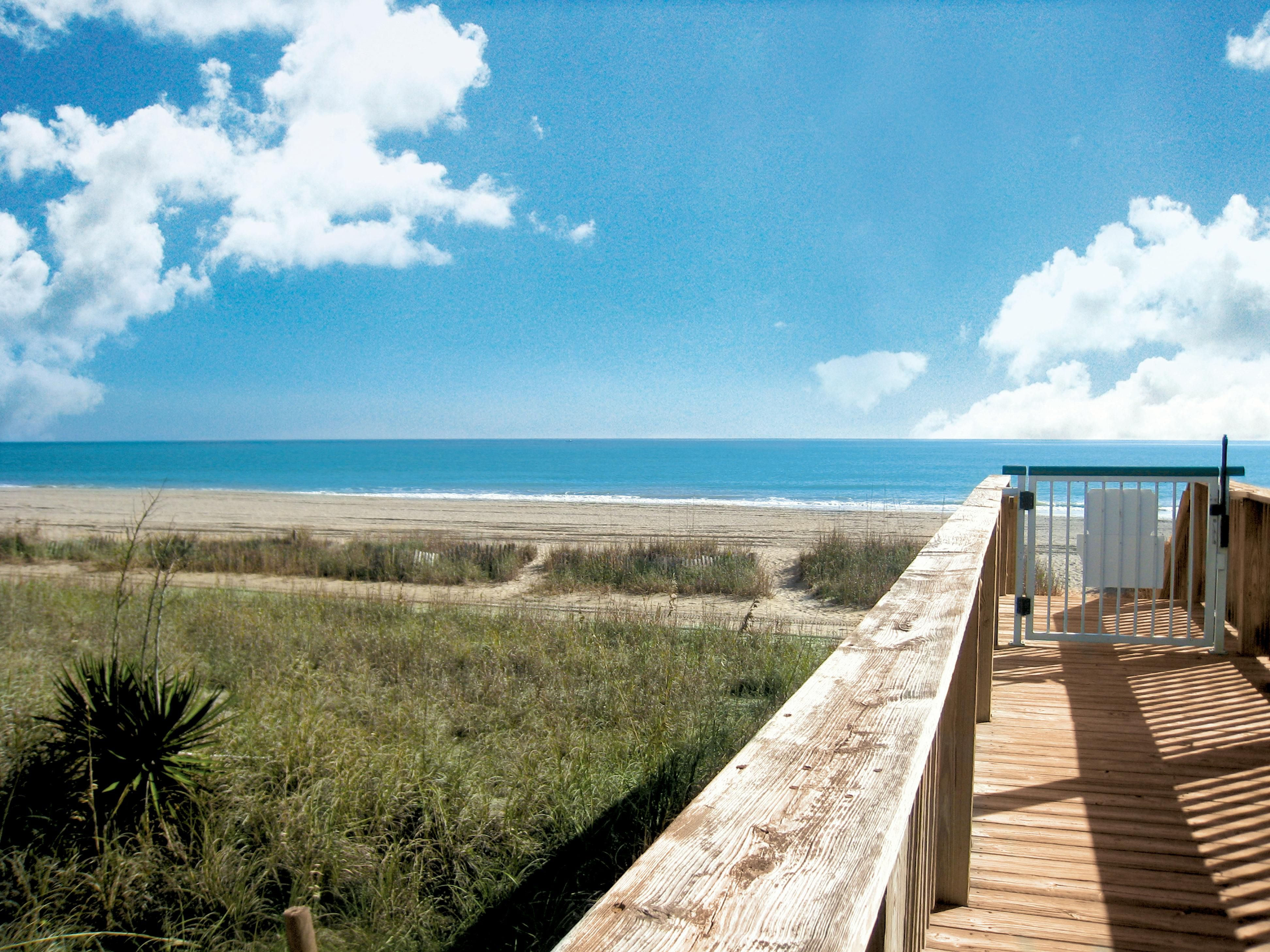 Enjoy the convenient board-walk style path down to the beach