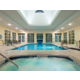 Guests can relax in the hot tub or swim indoors all year long