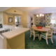 Spacious villas with kitchen, dining table and living room