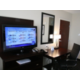 37' HDTVs and work area in all guest rooms.