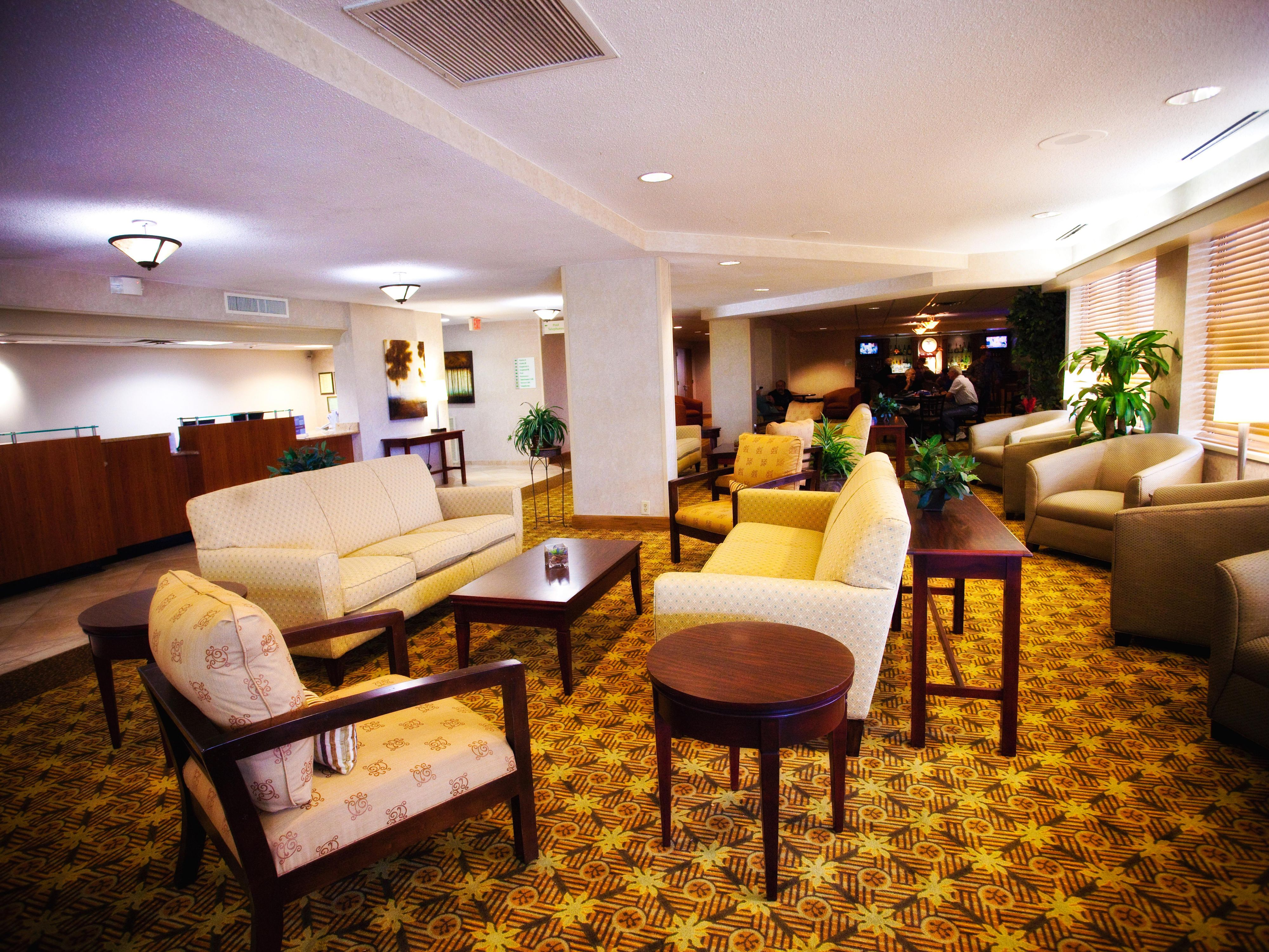 The Hotel Lobby has several sitting areas for your convenience.