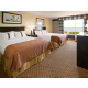 2 Queen Beds with a scenic view of Big Detroit Lake