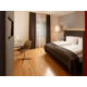 Our guest room for disabled guests features wooden flooring