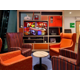 Relax in our cosy media lounge