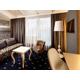 Living area with a sleeper sofa