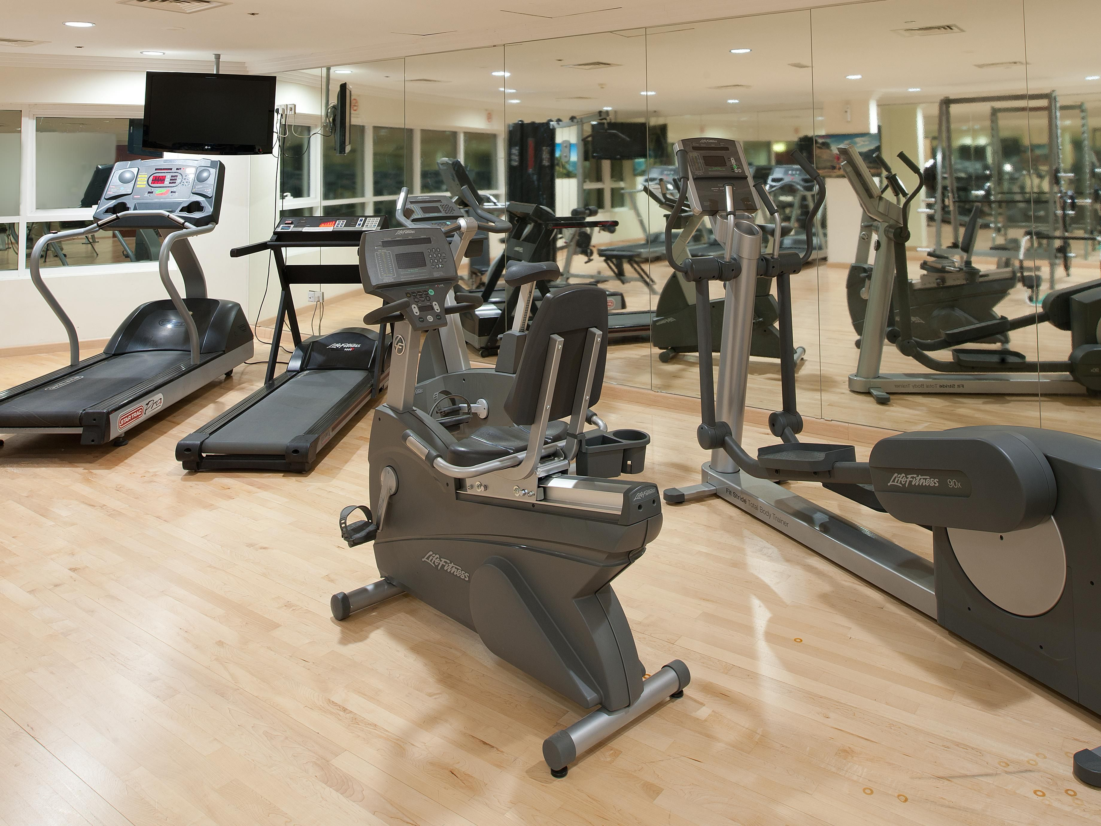 Stay fit in our well equipped Gym with Sauna & Steam rooms
