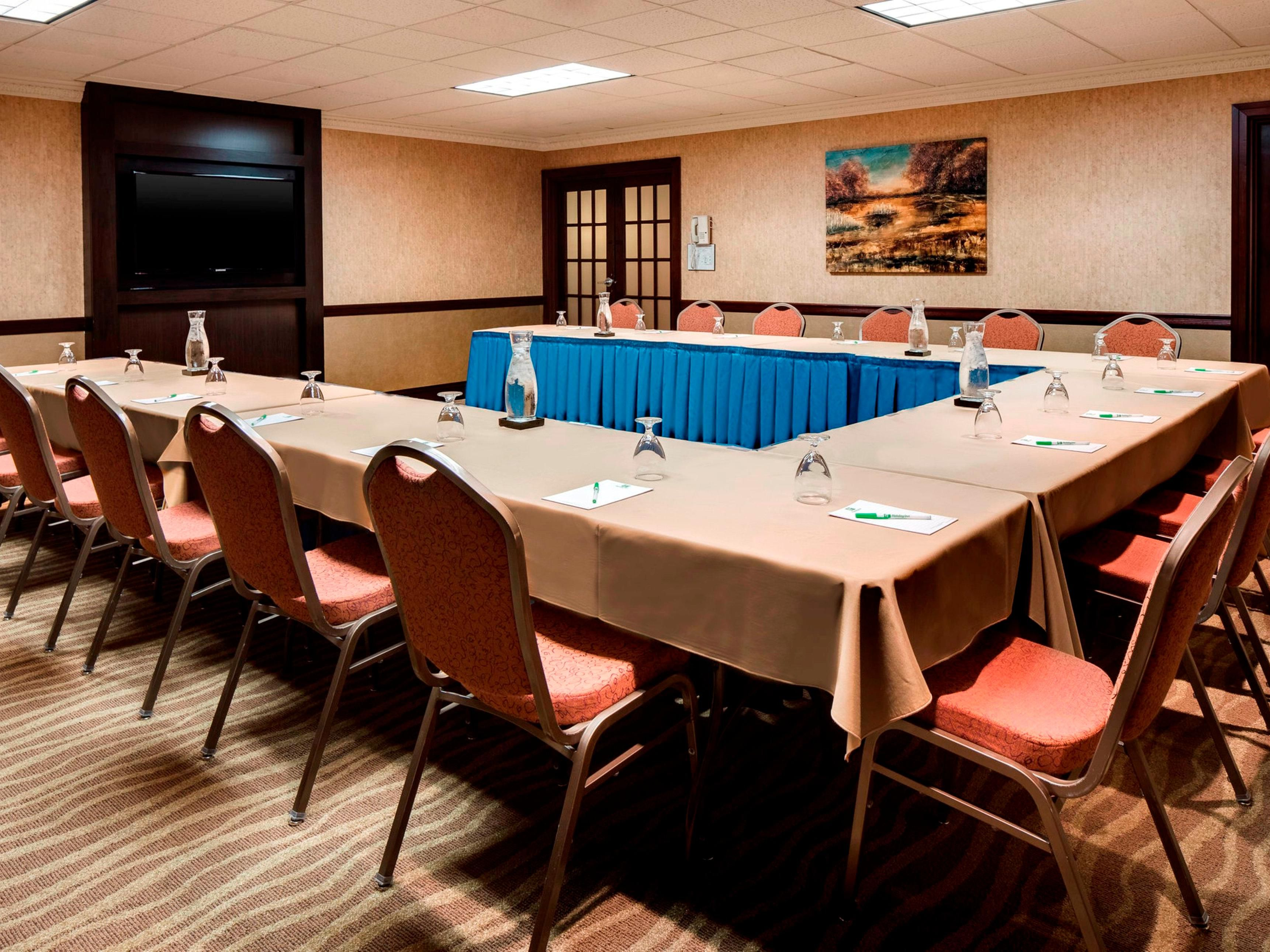 Our meeting rooms offer flexible seating arrangements