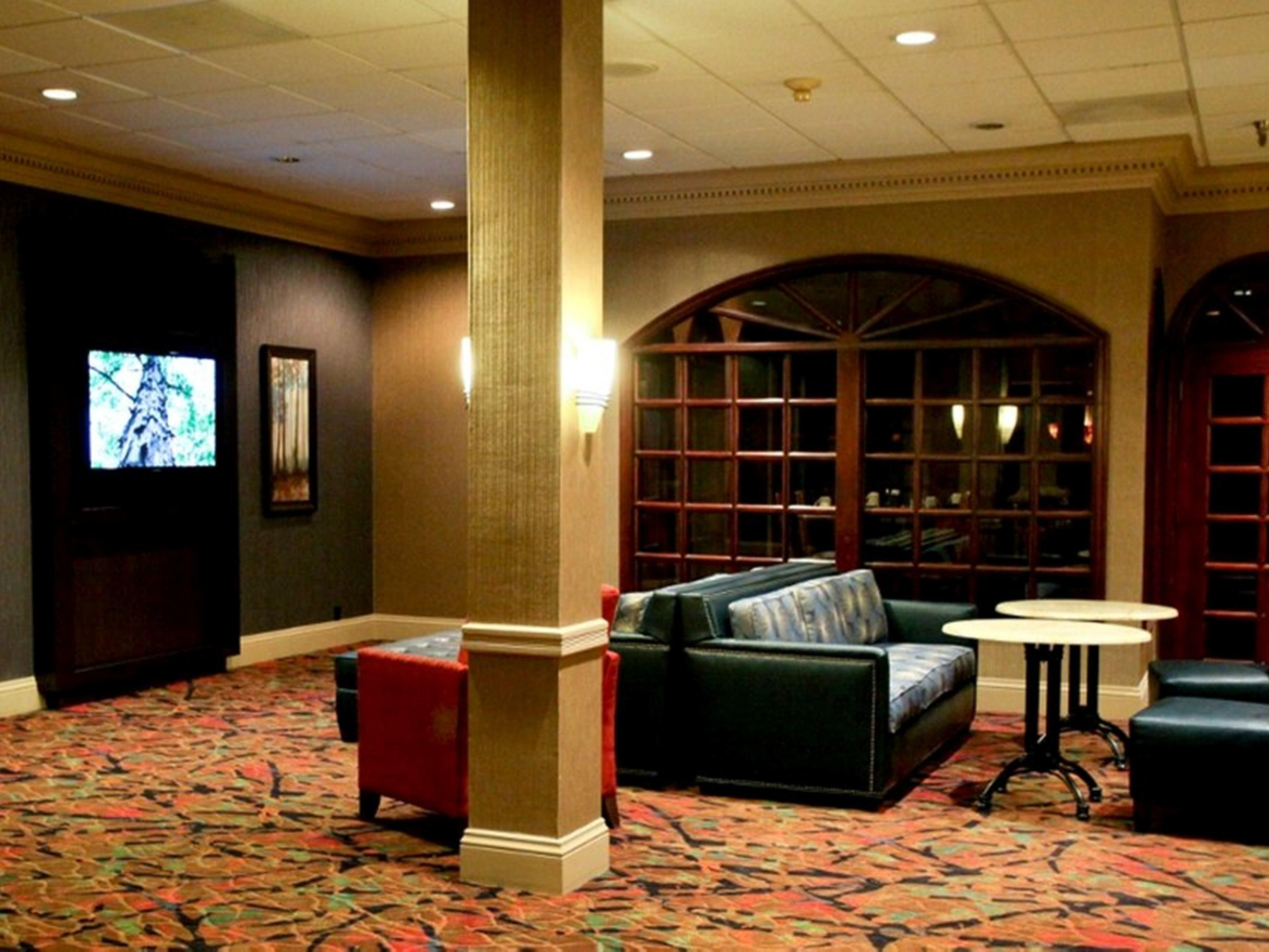 The TV Lounge features satellite TV and plenty of seating
