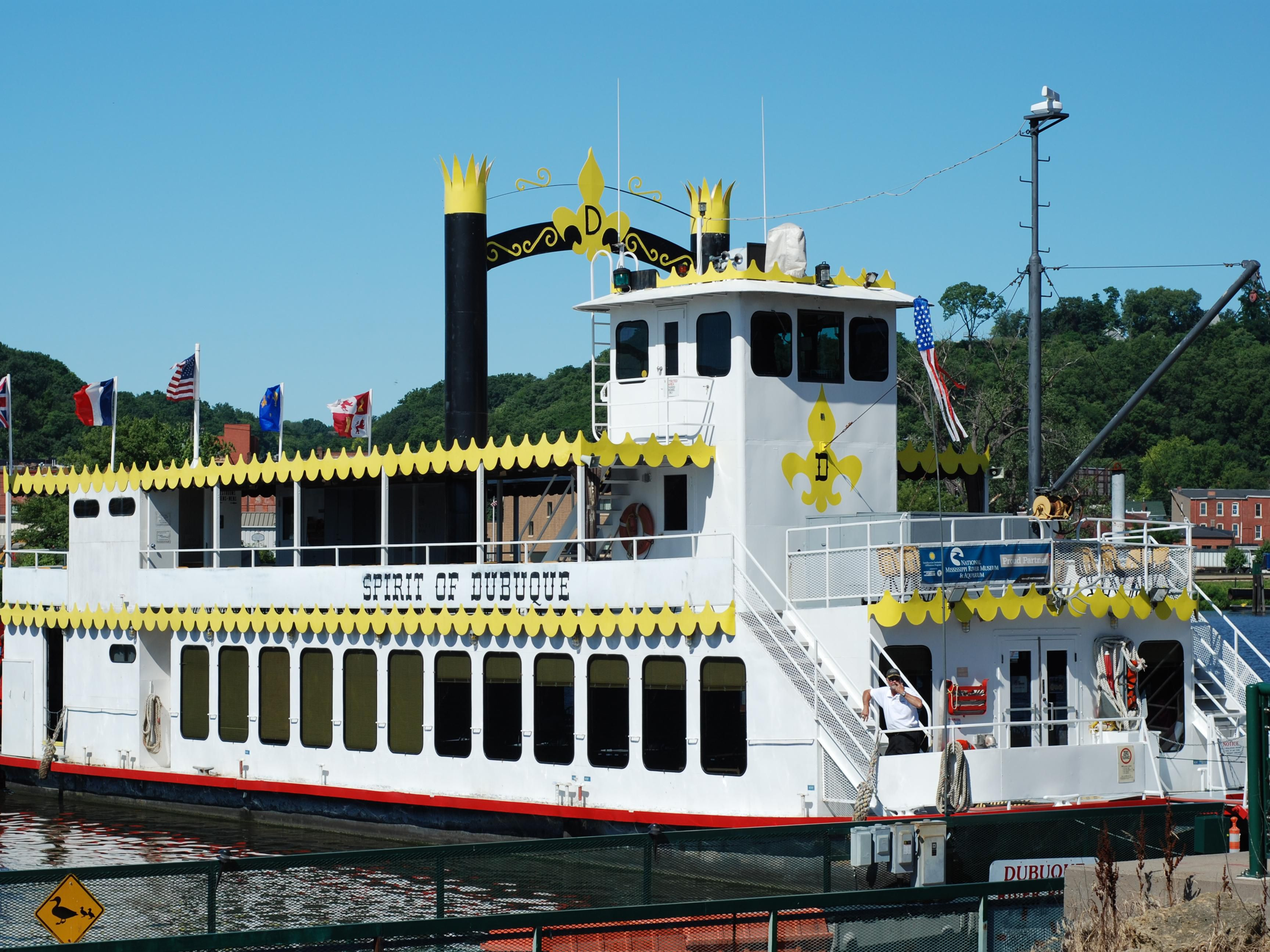 Cruise the Spirit of Dubuque for sightseeing or dinner