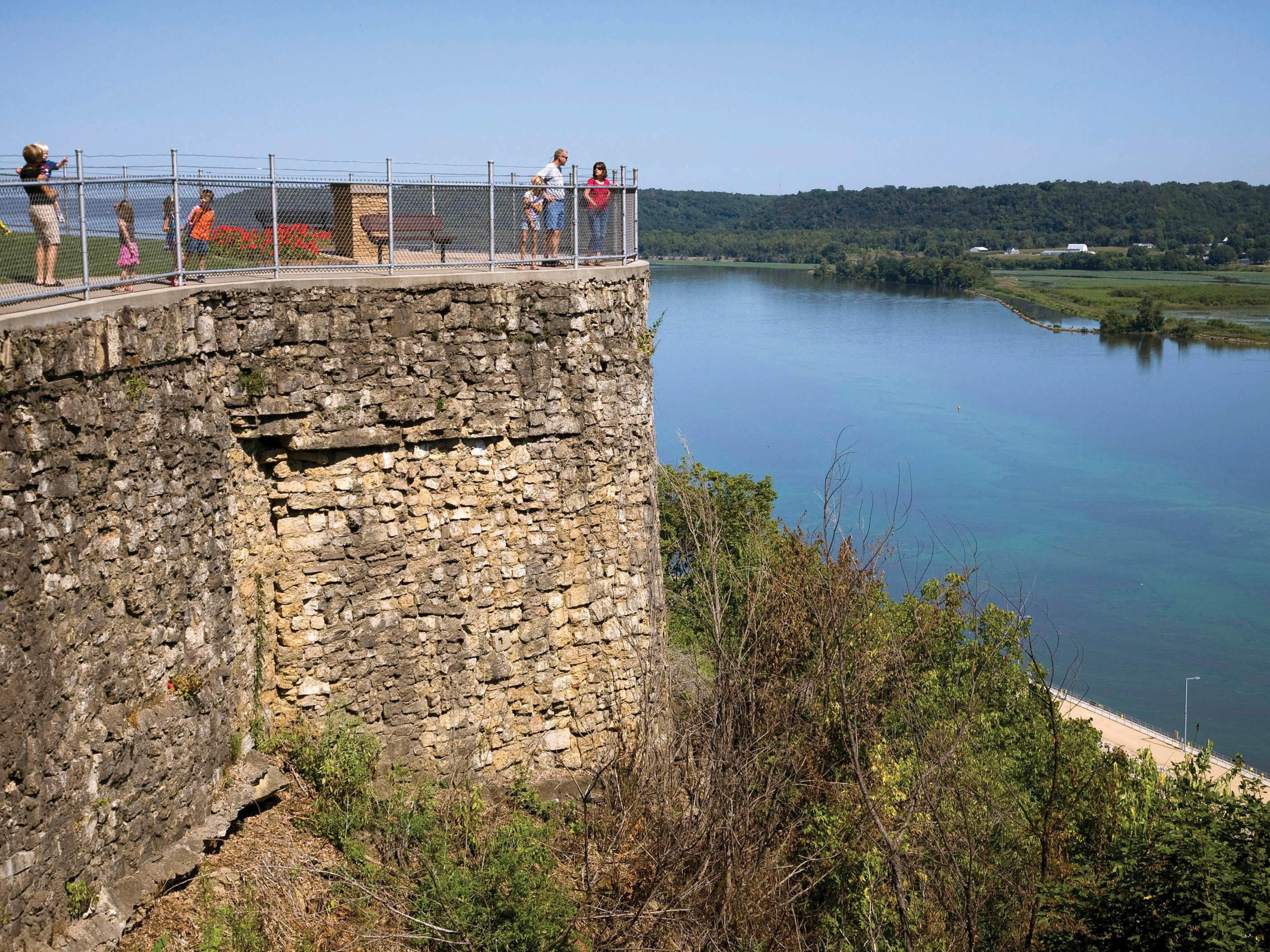 Visit Eagle Point Park for breathtaking views of the Mississippi