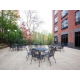 Minnesota great woodland surrounding restaurant patio
