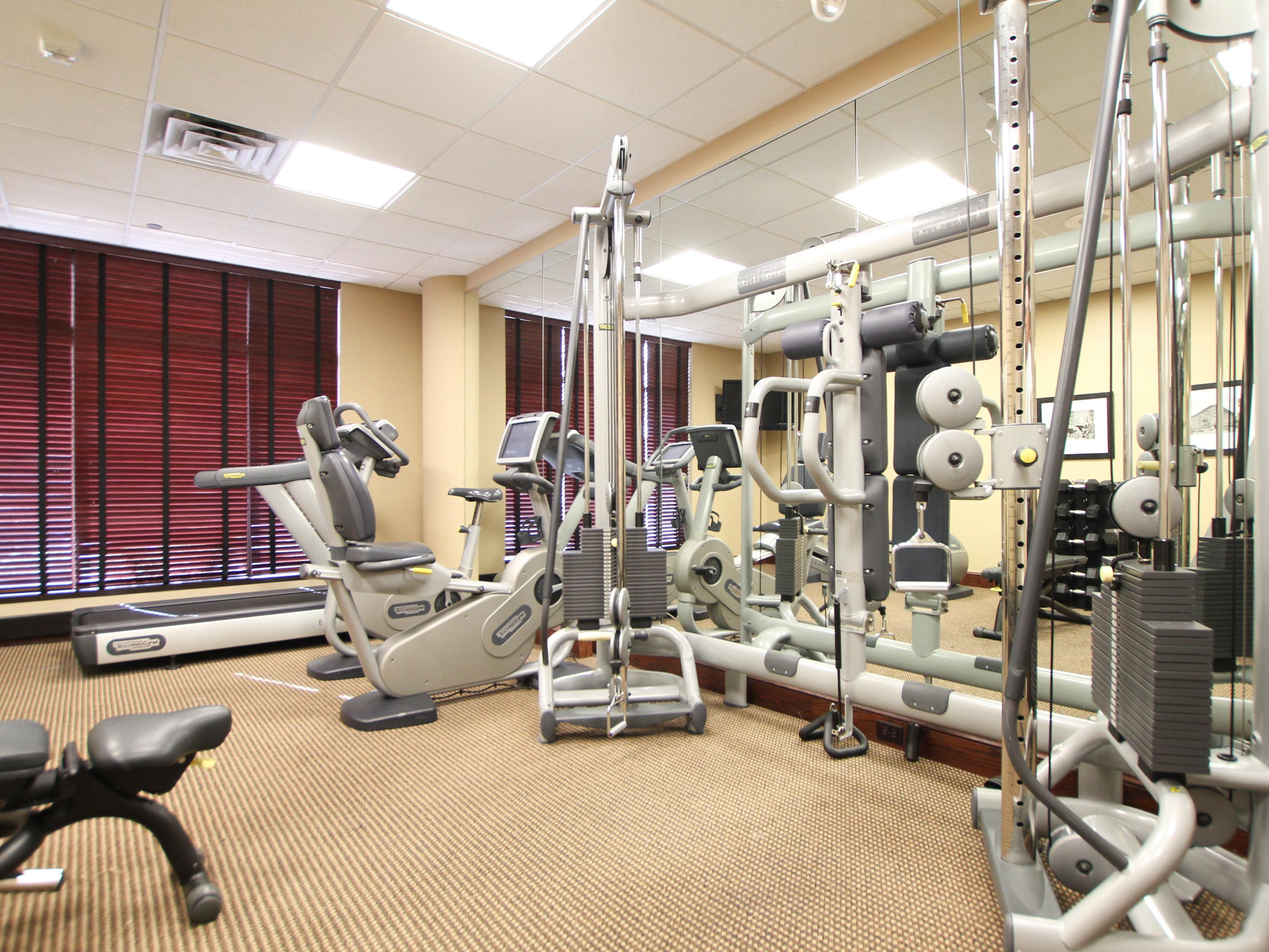 Stay Active with our fitness equipment at Holiday Inn Eagan