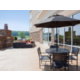 Exterior Fireplace Seating Holiday Inn Express Eau Claire South