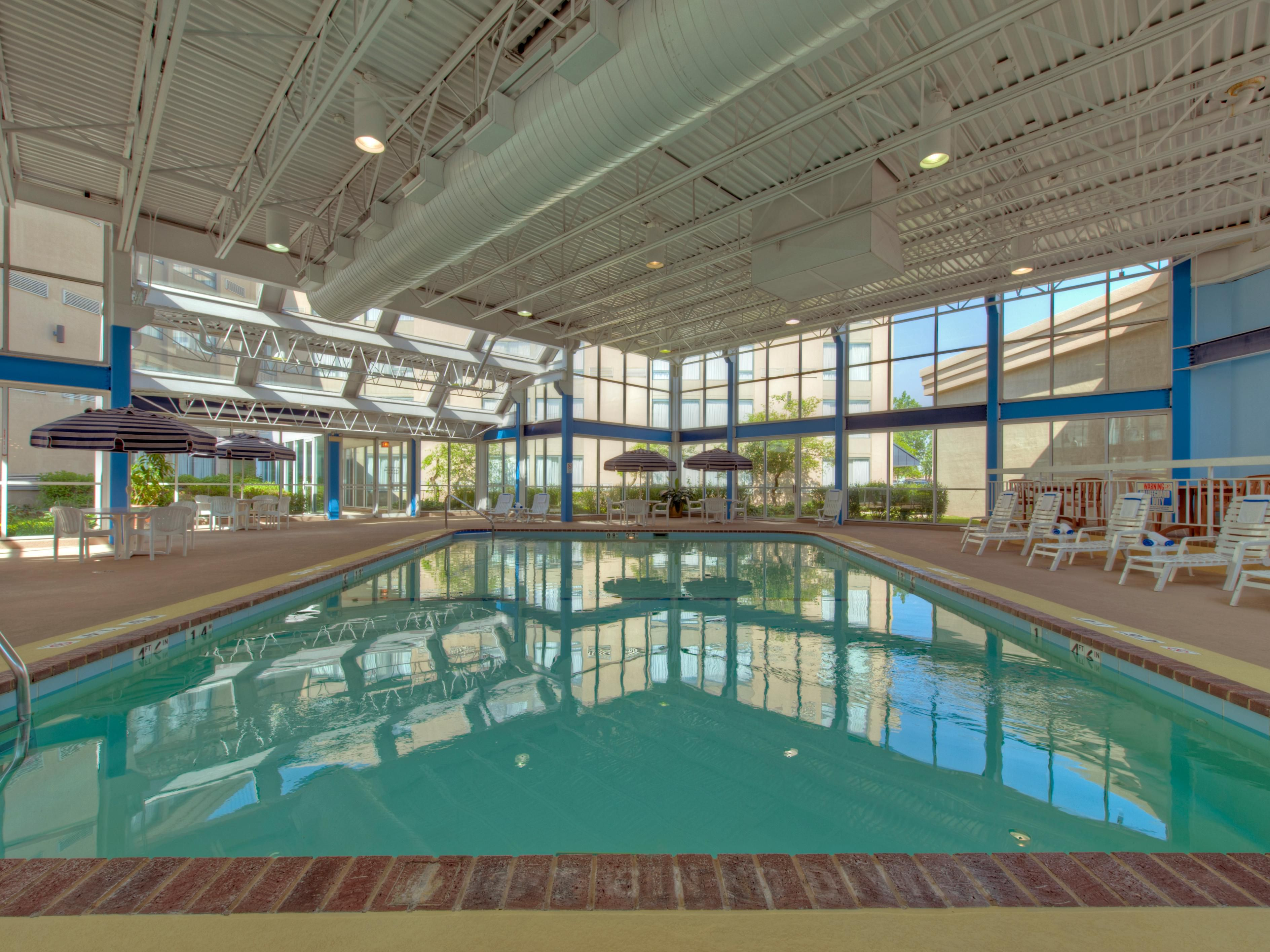 Lovely Indoor Pool at Holiday Inn Chicago Elk Grove