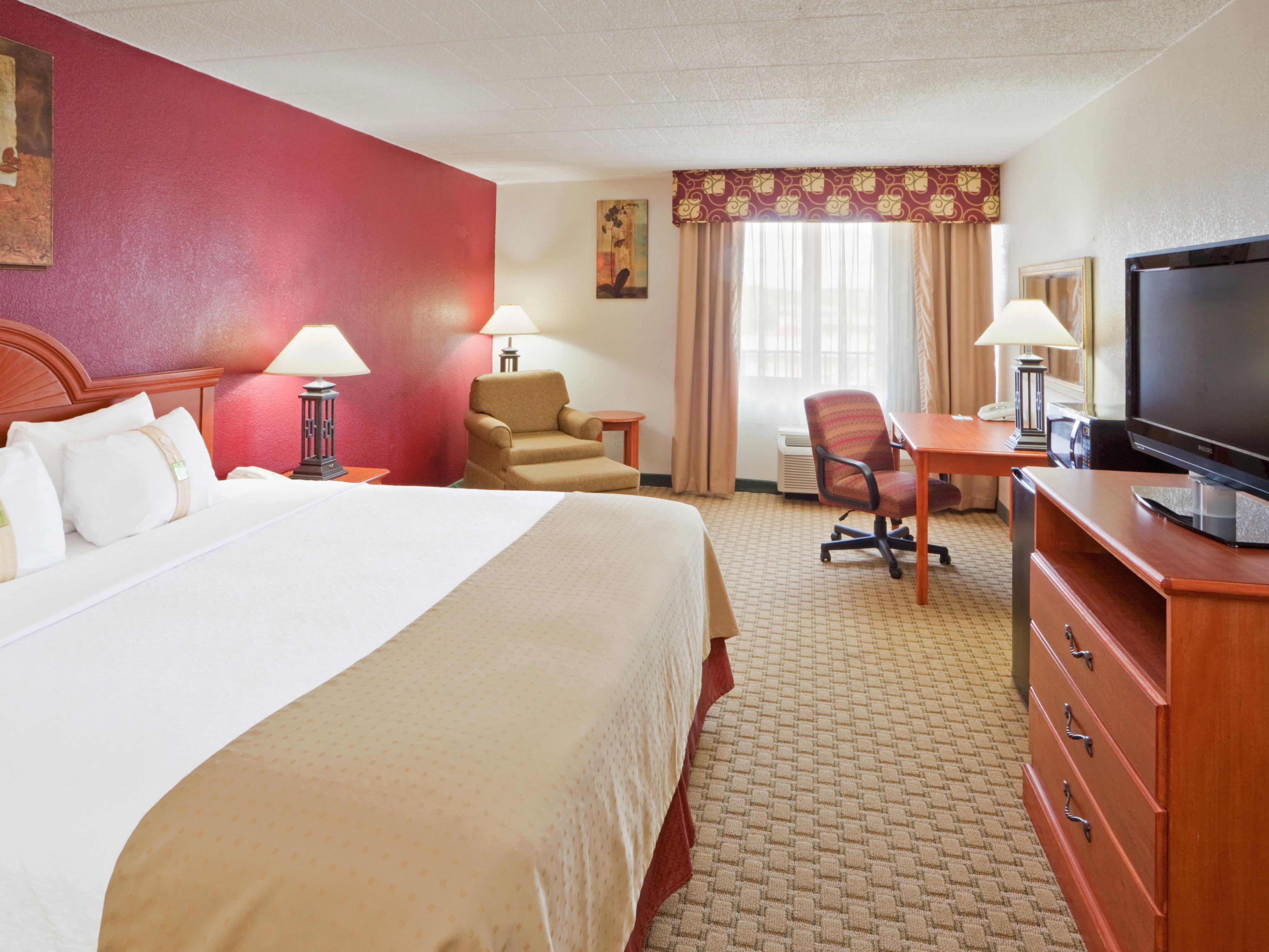 Our spacious king bed room will guarantee comfort!