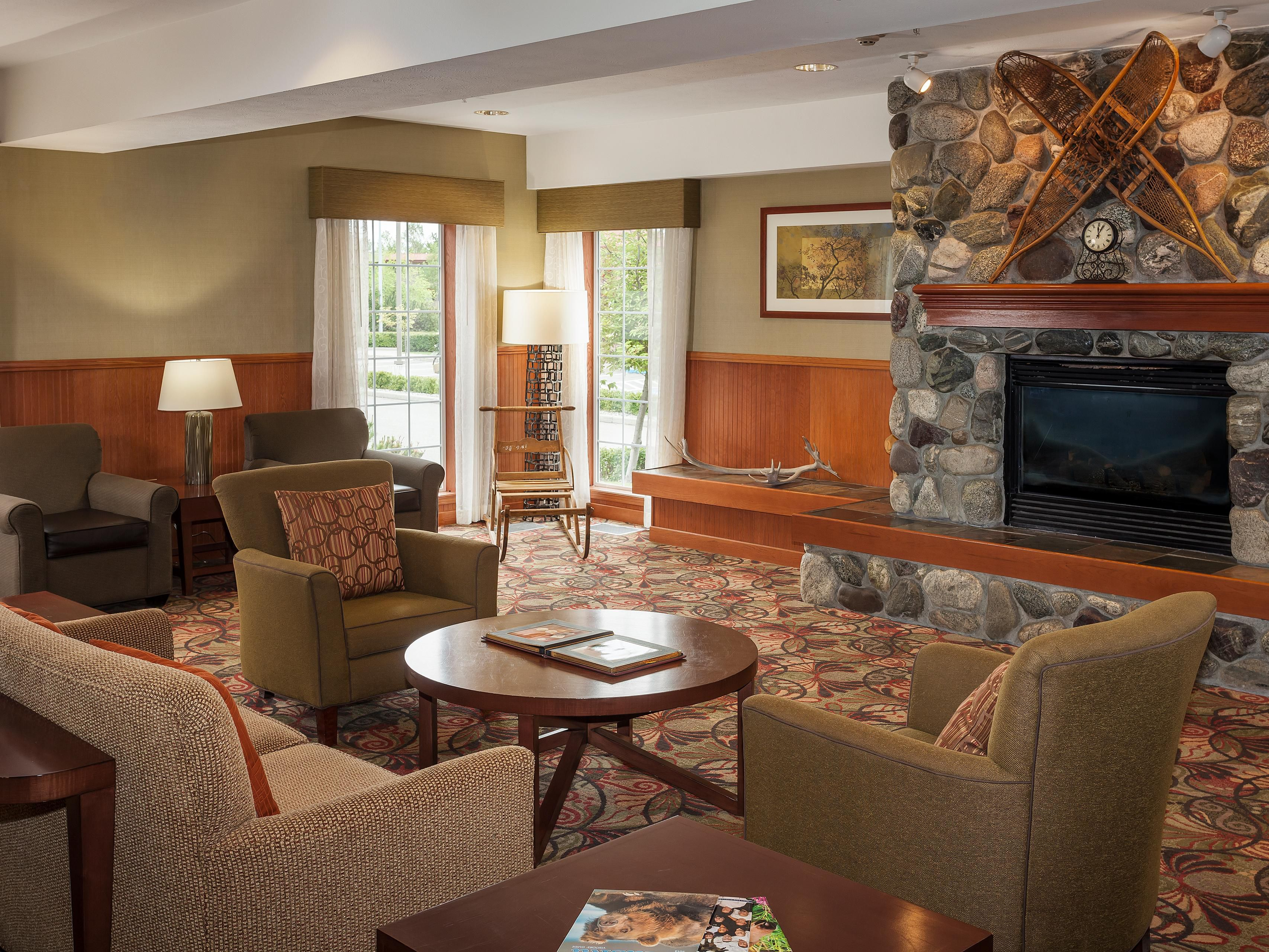 Relax by the fire at Holiday Inn Express Anchorage