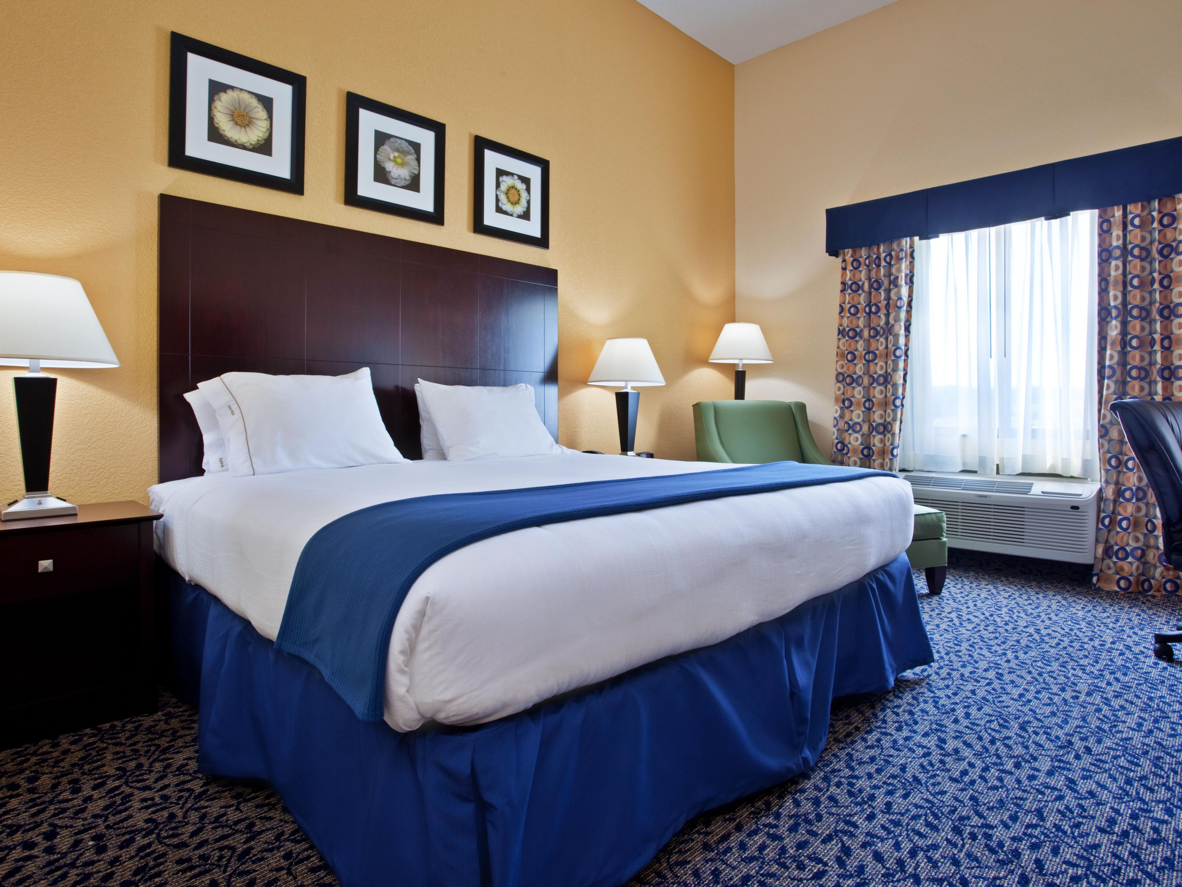 Enjoy extra workspace in our king bed guest room