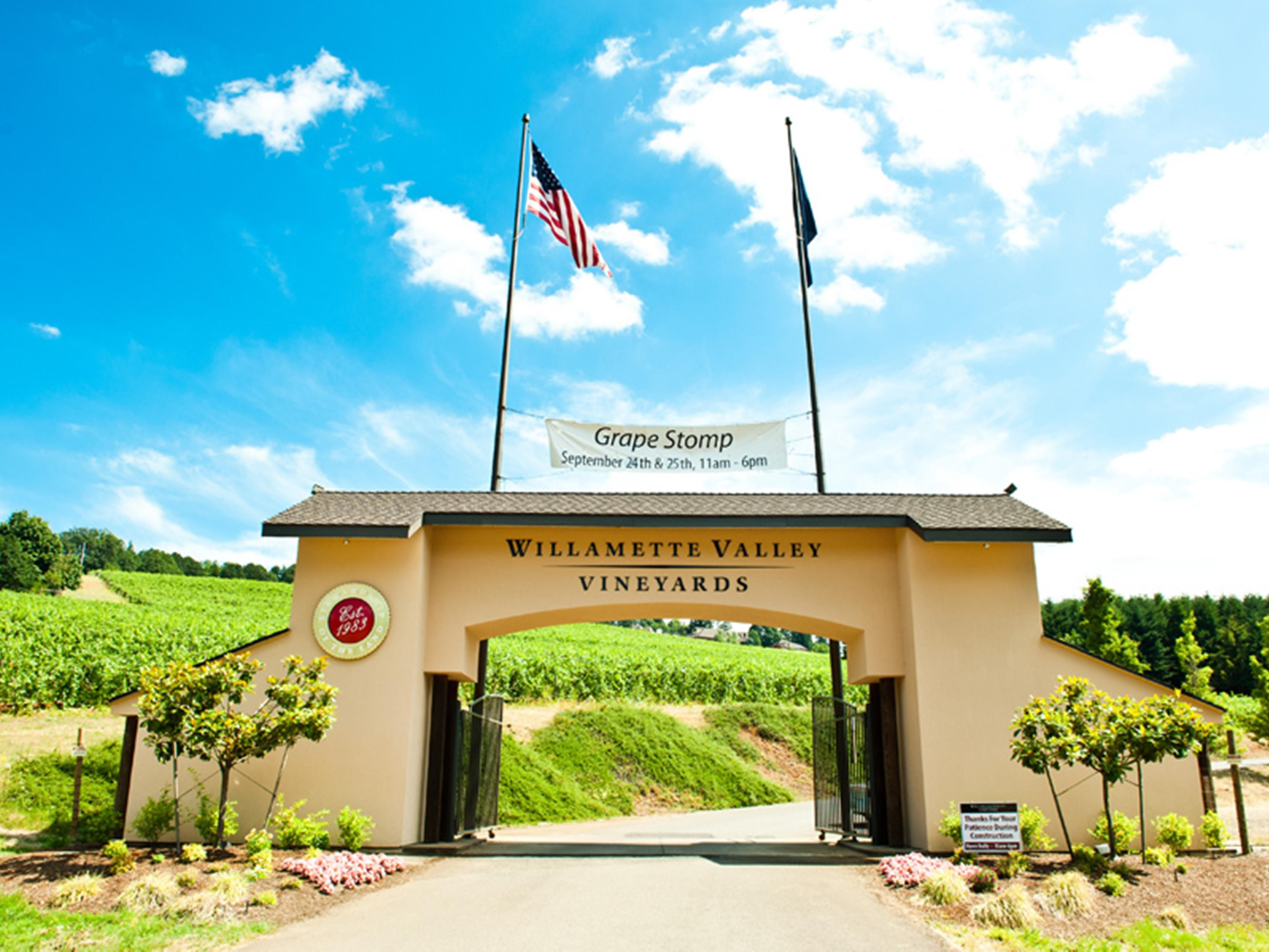 Willamette Valley Vineyards quick a 20minute drive from the hotel