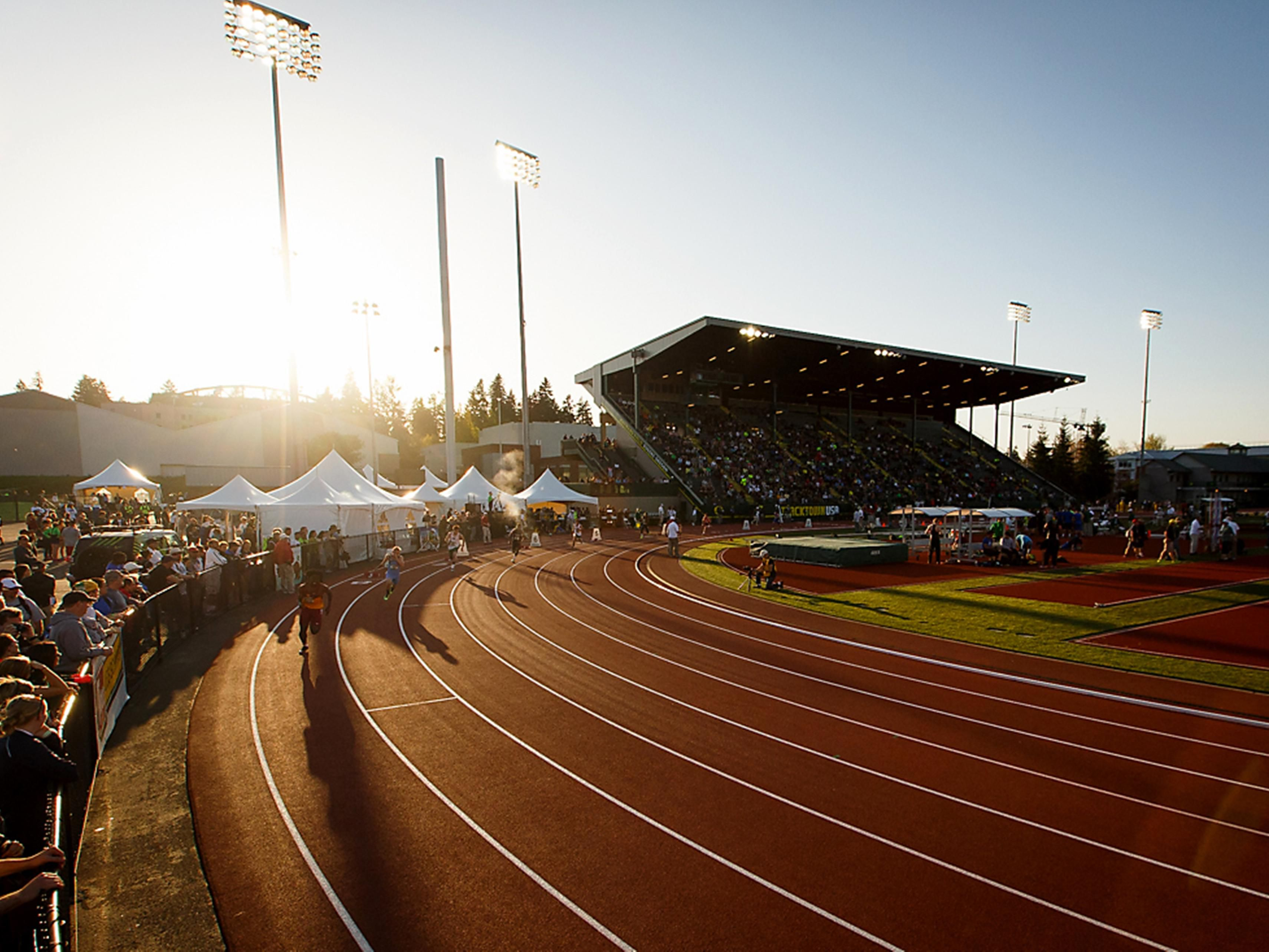 University of Oregon, Eugene Track and Field 40 minute drive