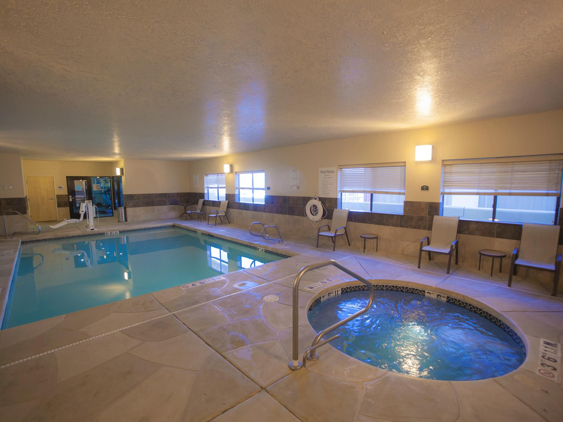 Leave worries behind and unwind at our pool and hot tub