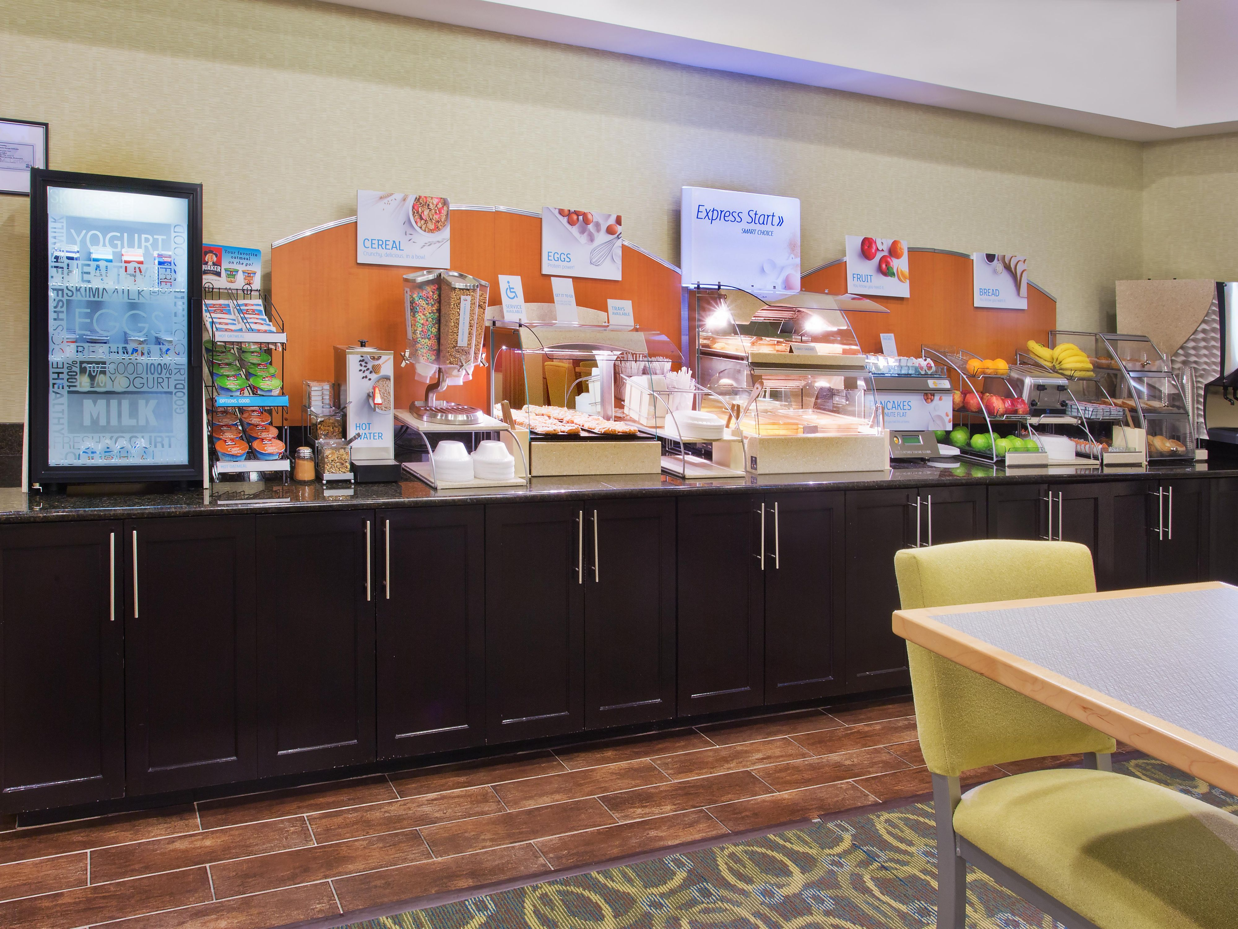 Our Express Start breakfast is waiting for you each morning.