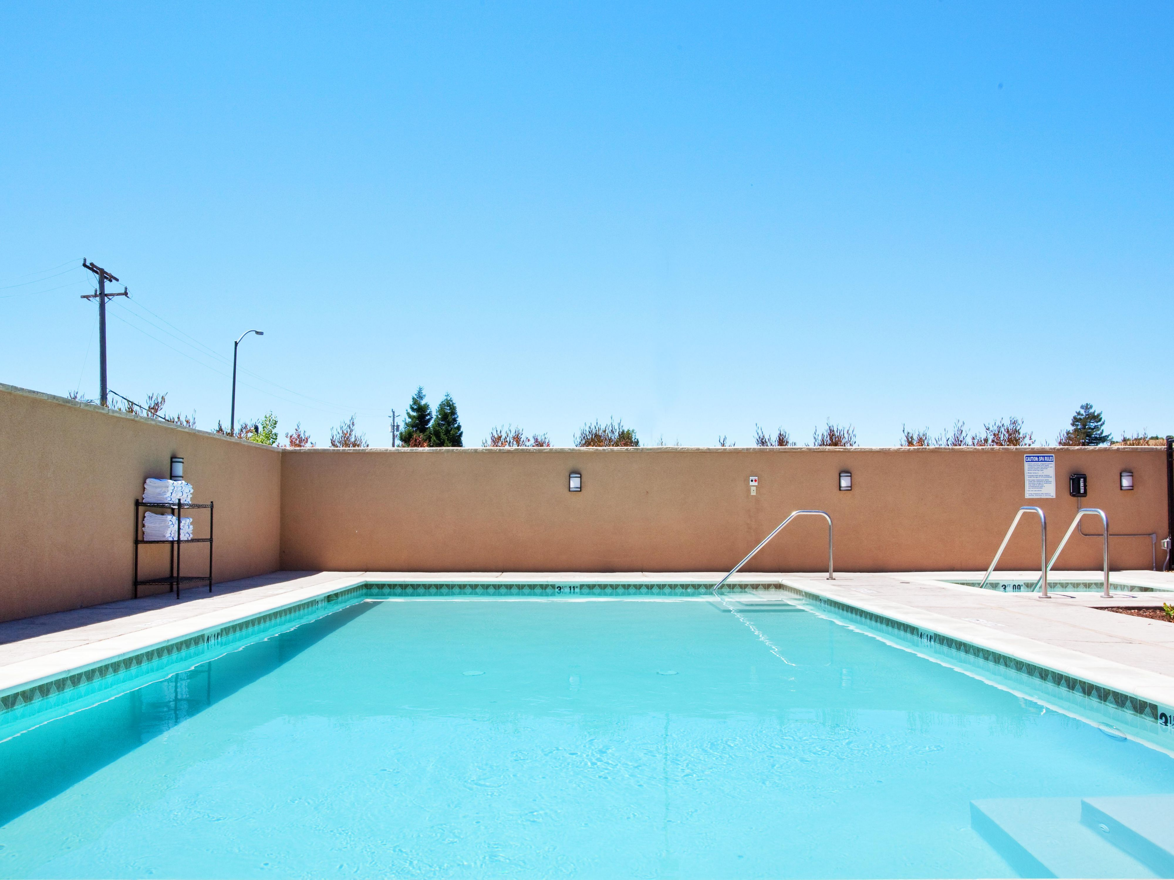 Go for a swim in our large pool - American Canyon Hotel