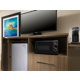 King Room Amenities Include a Microwave, Fridge and Coffee Maker