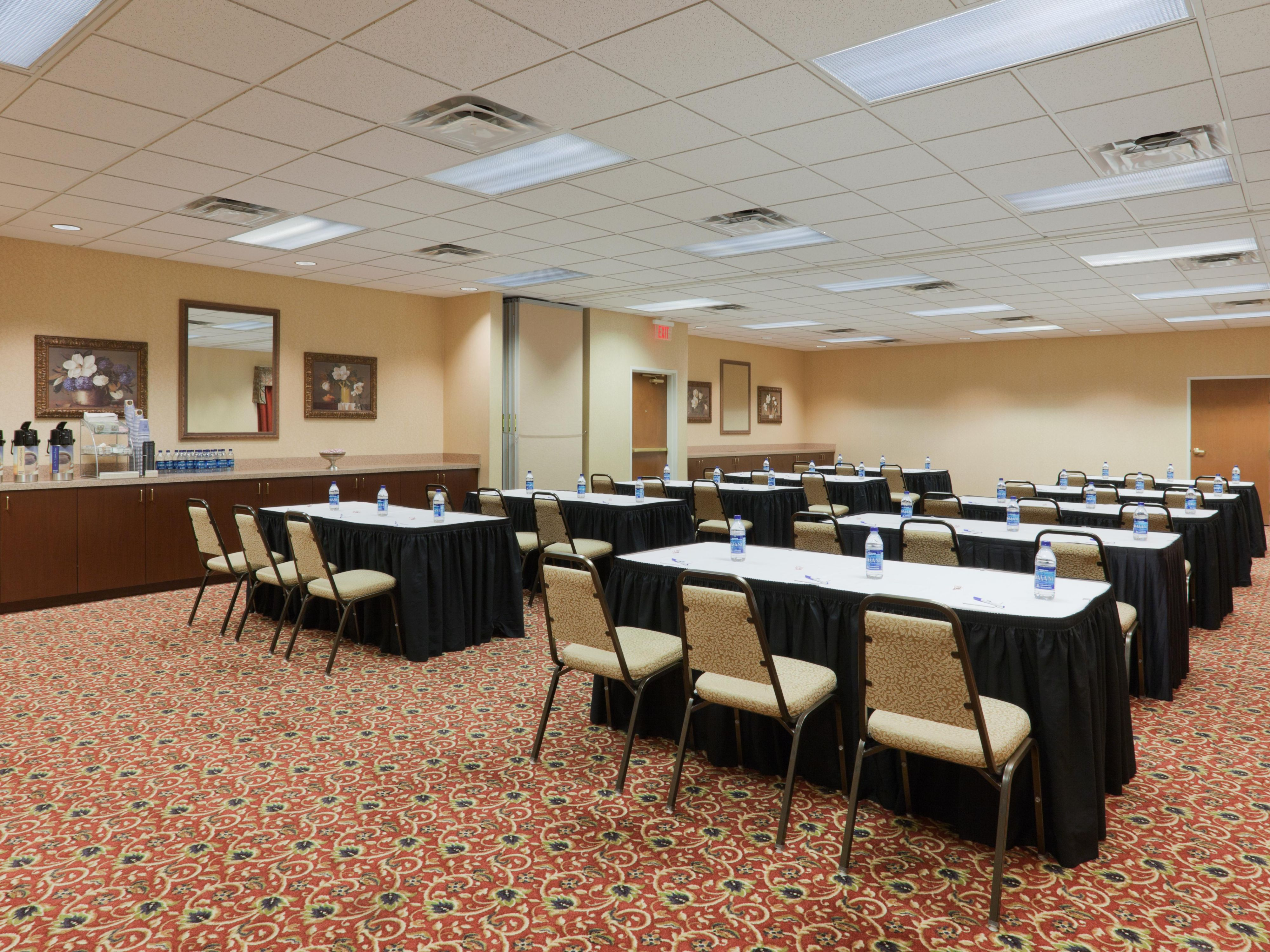 We offer meeting facilities with seating for up to 50 guests