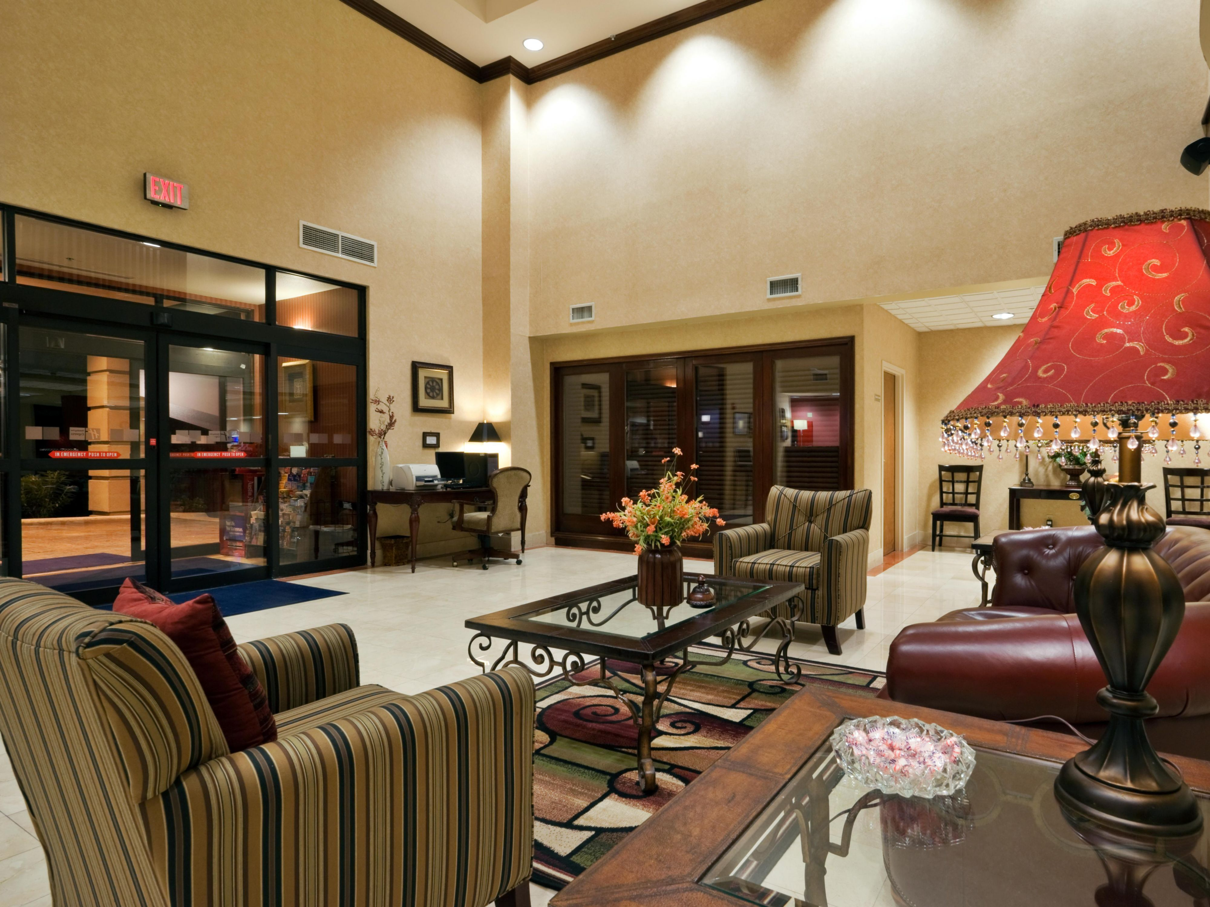 Relax in our Beautiful Lobby