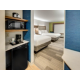 Refreshingly Modern Queen Room with Microwave and Refrigerator