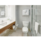 King Suite Bathroom with Glass Enclosed Shower, Ambient Lighting